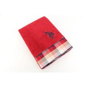 Ręcznik US Polo Bath Red Check, 70x140 cm