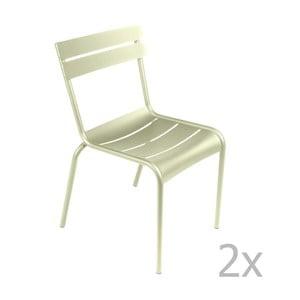 Zestaw 2 jasnozielonych krzeseł Fermob Luxembourg