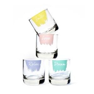 Zestaw 4 szklanek w opakowaniu prezentowym Sweet Words