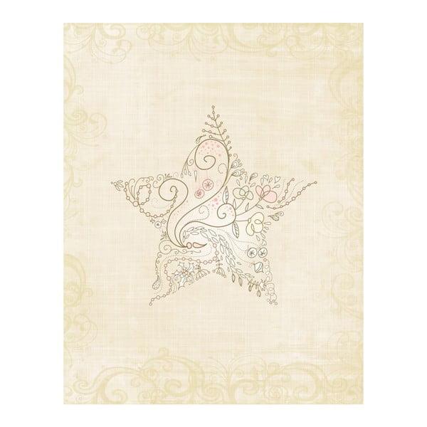 Plakat w drewnianej ramie Light star, 38x28 cm