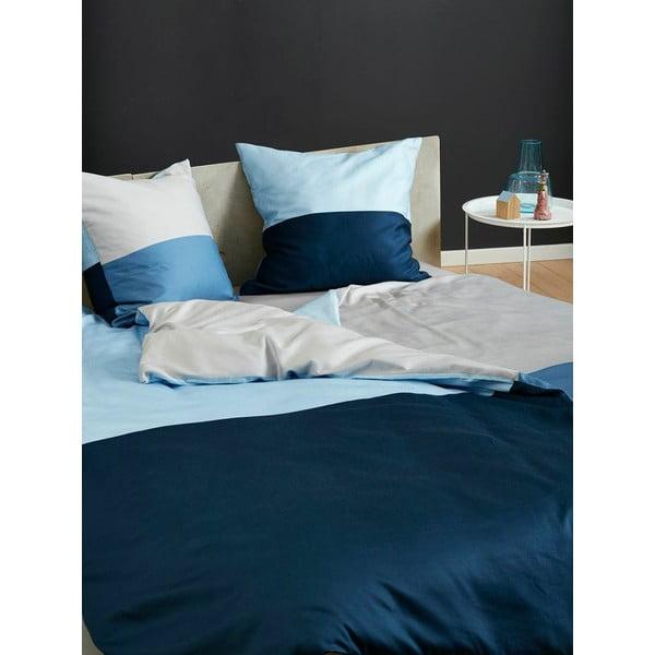 Pościel Domino Grey and Slate Blue, 140x200 cm