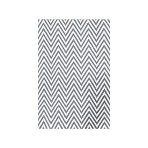 Dywan wełniany Zig Zag Grey, 240x155 cm