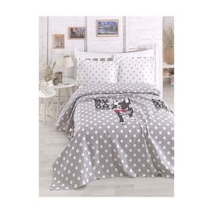 Lekka narzuta na łóżko dwuosobowe Boston Grey, 200x235 cm