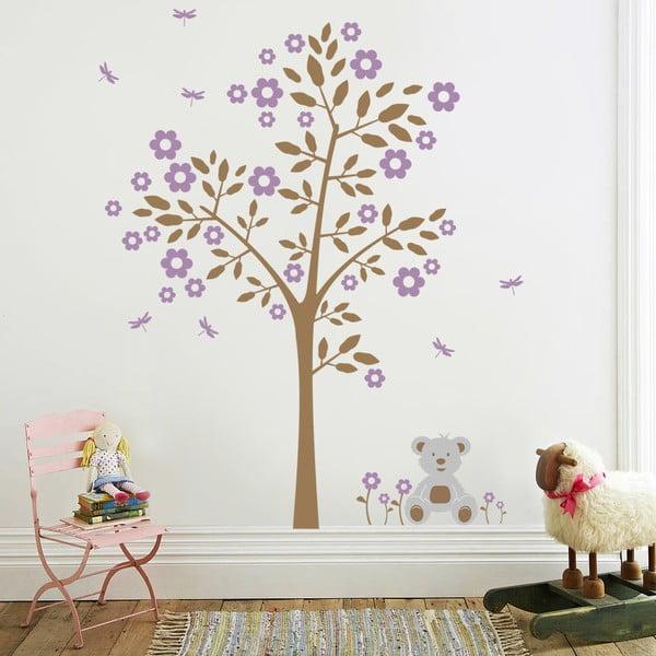 Naklejka Drzewo i niedźwiadek, 70x50 cm