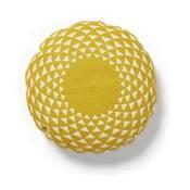 Żółta poduszka La Forma Zappa, Ø 45 cm