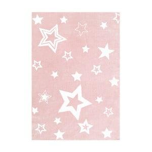 Różowy dywan dziecięcy Happy Rugs Satrlight, 100x160 cm