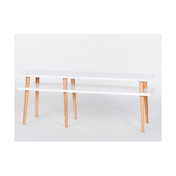 Biały stolik Ragaba Mugo, dł. 139 cm