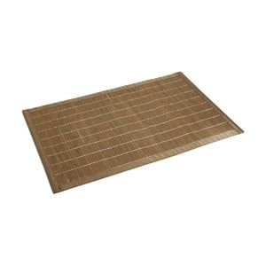 Ciemny bambusowy dywanik łazienkowy Wenko Bamboo, 50x80 cm