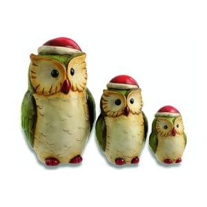 Zestaw 3 dekoracji Xmas Owl