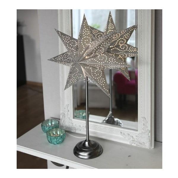 Świecąca gwiazda ze stojakiem Antique Gold, 70 cm
