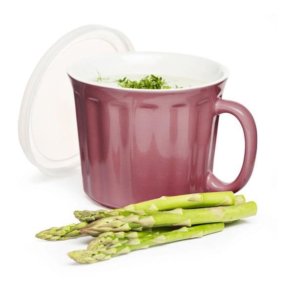 Różowy kubek na zupę Sagaform 500 ml