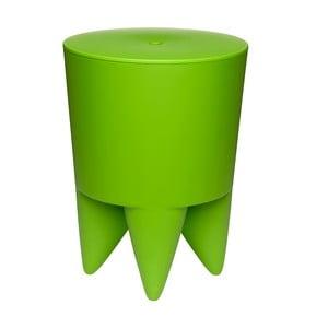 Stolik, schowek i cooler do butelek w jednym Bubu, zielony