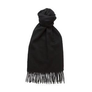 Czarny szalik kaszmirowy Hogarth, 180x25 cm