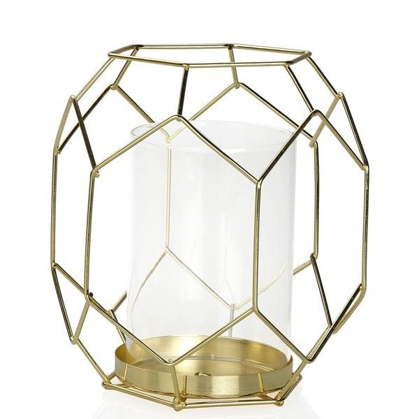Świecznik Gold Candle, wysokość 16,5 cm