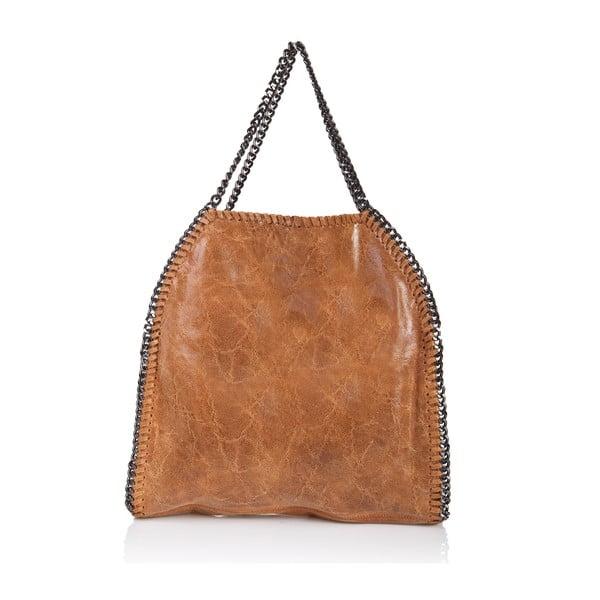 Skórzana torebka Markese 126 Cognaco