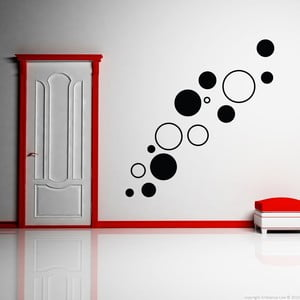 Naklejka Black Circles, 55x55 cm