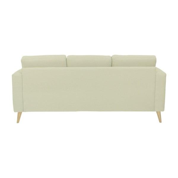 Beżowa sofa 3-osobowa z naturalnymi nogami Helga Interiors Alex