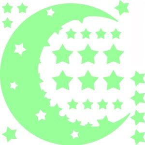 Zestaw naklejek świecących w ciemności Ambiance Moon and Stars