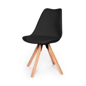 Czarne krzesło z konstrukcją z drewna bukowego loomi.design Eco