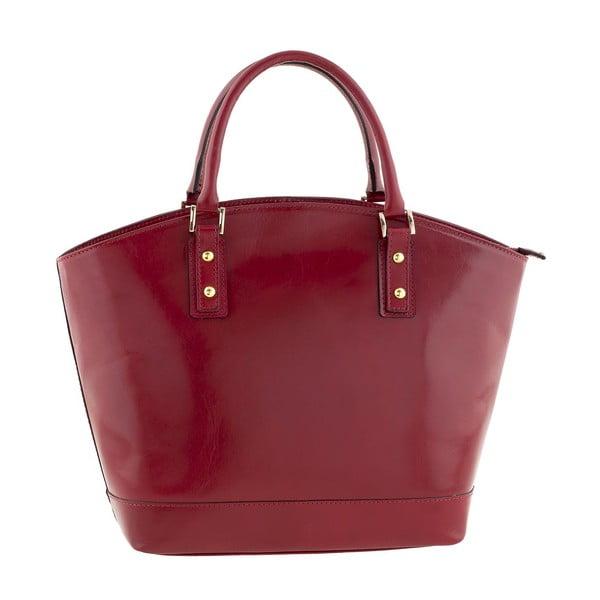 Skórzana torebka Pure Italia, czerwona