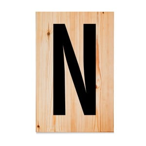 Drewniana tabliczka Letters N