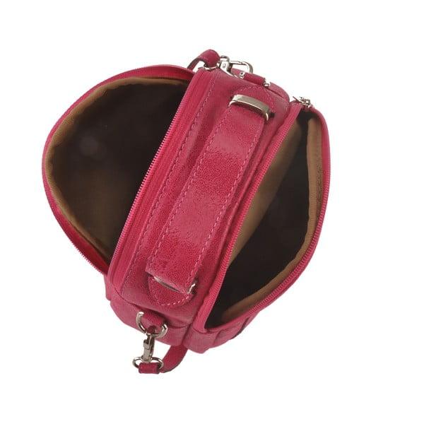 Skórzana torebka Men, różowa