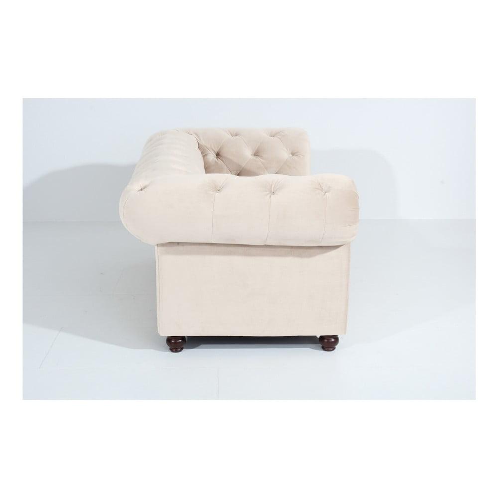 kremowa sofa dwuosobowa max winzer orleans velvet bonami. Black Bedroom Furniture Sets. Home Design Ideas