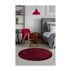 Ciemnoczerwony dywan Milano, ⌀ 90 cm