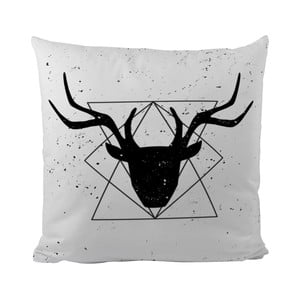 Poduszka Black Shake Geometric Deer, 50x50 cm