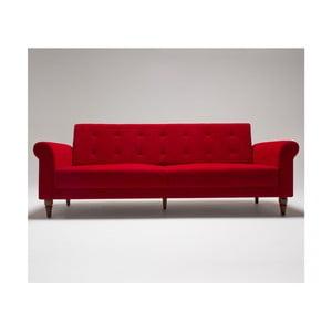 Czerwona sofa rozkładana Balcab Home Gina