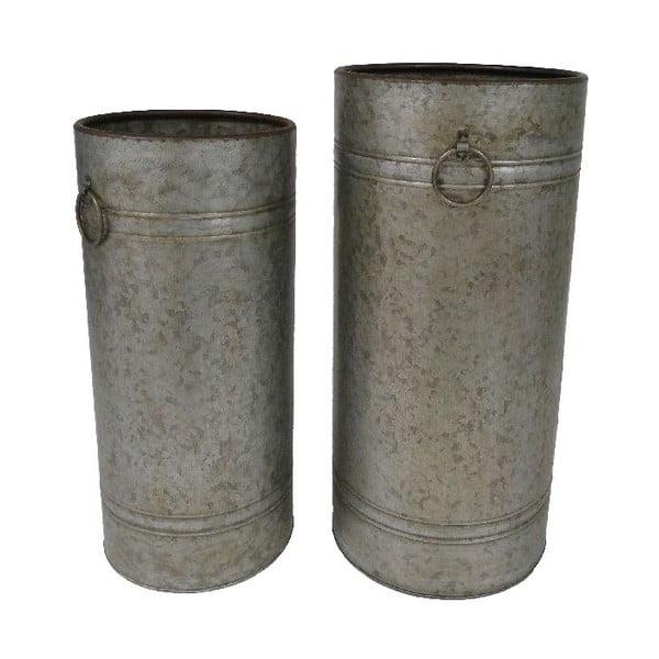 Komplet 2 pojemników metalowych Antik