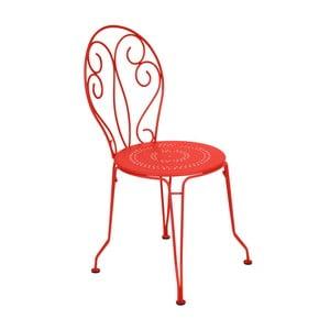 Ceglane krzesło metalowe Fermob Montmartre