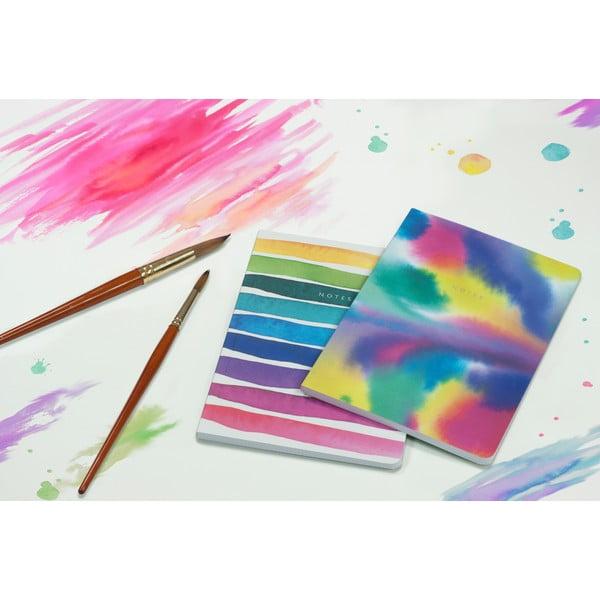 Zestaw 2 notatników A5 Portico Designs Watercolor, 100str.