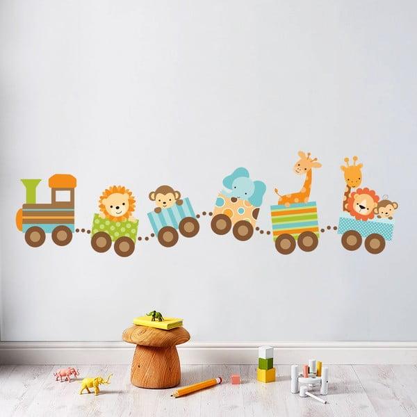 Naklejka dekoracyjna na ścianę ZOO pociag