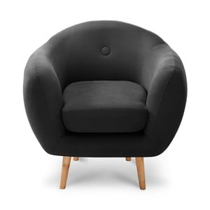 Czarny fotel Stella