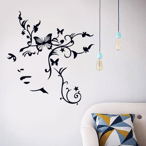 Naklejka ścienna Kobieta-motyl, 90x60 cm