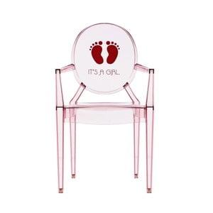 Przezroczyste krzesełko dziecięce Kartell Lou Lou Ghost Girl