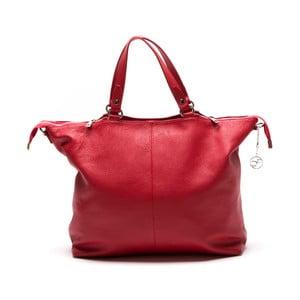 Skórzana torebka Fiora, czerwona