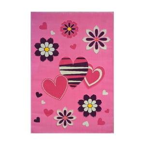 Różowy dywan Princess , 120x180cm