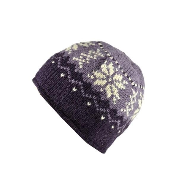 Czapka wełniana Violet Snowflake