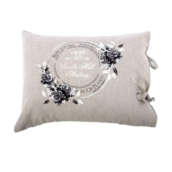 Poszewka na poduszkę Rose 40x50 cm, szara