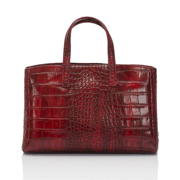 Czerwona torebka skórzana Lisa Minardi Markese Magnata