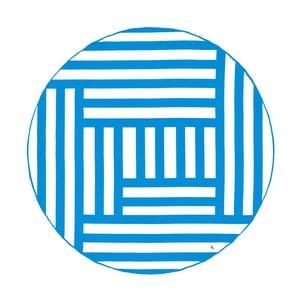 Okrągły ręcznik szybkoschnący w niebieskie pasy Dock and Bay, ⌀ 190 cm