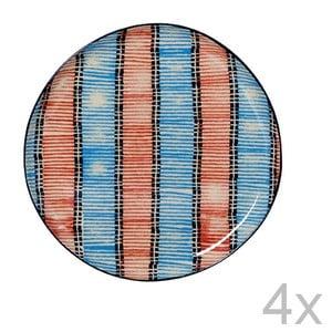 Zestaw 4 talerzy Samburu, 21,5 cm