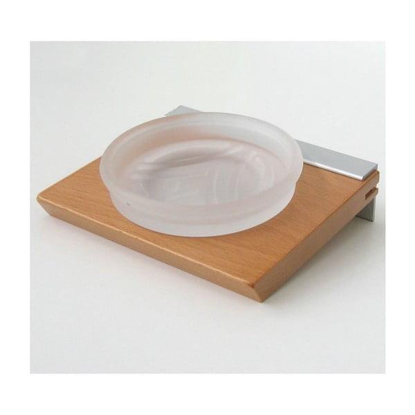 Uchwyt na mydło Natural Beech, 15x5,8x14 cm