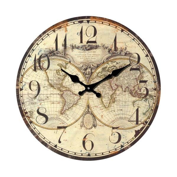 Szklany zegar Świat, 34 cm