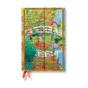 Kalendarz na 2019 rok Paperblanks Letter to Morisot Horizontal, 10x14cm