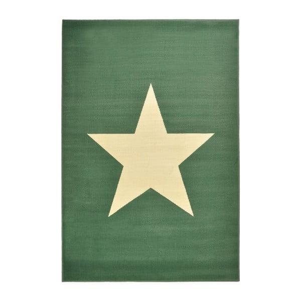 Zielony dywan dziecięcy dywan Hanse Home Star, 140x200 cm