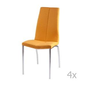 Zestaw 4 żółtych krzeseł sømcasa Carla