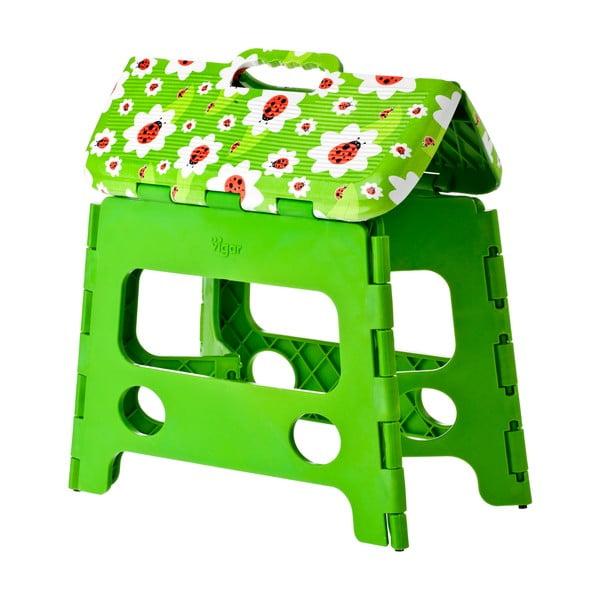 Zielony składany stołek Vigar Ladybug